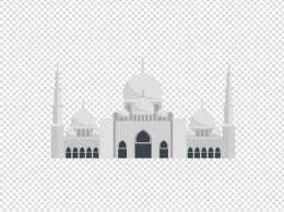灰色创意阿拉伯建筑元素