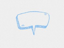 手绘卡通对话框