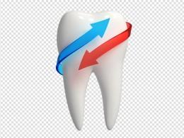 创意牙齿家庭人物素材