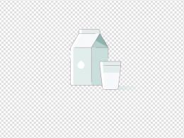 淡蓝色的牛奶图标