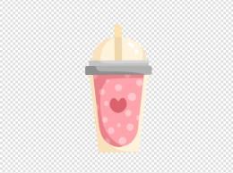快餐饮品奶茶插画
