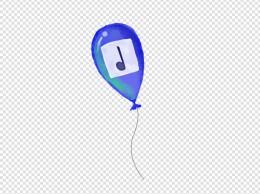 灰蓝色音乐符气球