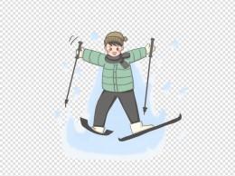 在滑雪的男孩子PNG