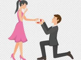 单膝跪地求婚的人