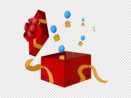 双十一双十二装满气球的礼品盒子