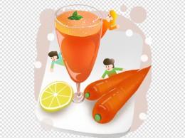 秋季养生胡萝卜汁插画