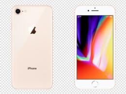 产品实物手机iphone8金色