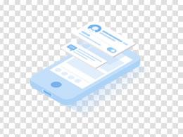 2.5d立体蓝色系科技风手机数码